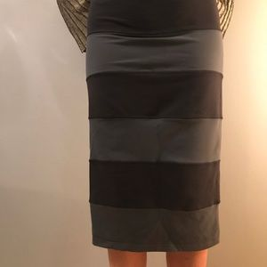 Lululemon Yoga Over Black & Grey Stripped Skirt 4